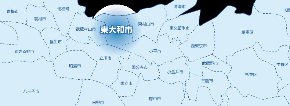 東大和市の地図